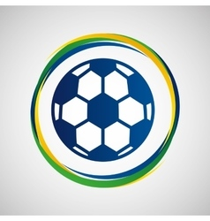 football sport badge icon vector image