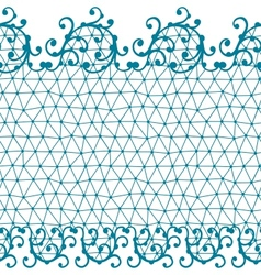 Seamless lace pattern with floral ornaments vector image