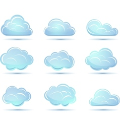clouds collection weather icons vector image