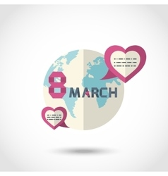 Earth with hearts vector image vector image