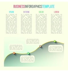 graph infographic template made in modern vector image