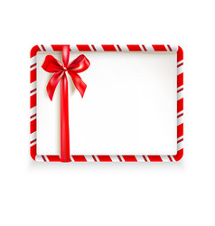 holiday stripe frame card vector image