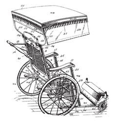 Invalid chair vintage vector