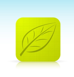Leaf Ico vector image vector image