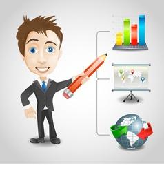 Presentation businessman vector image vector image