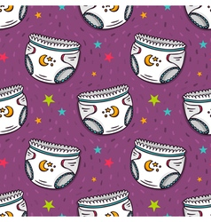 seamless pattern with diapers vector image