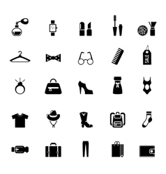 Assortment of Black Clothing and Accessory Icons vector image