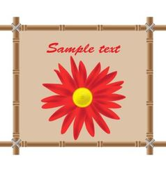 bamboo frame and flower vector image vector image