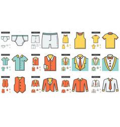 clothes line icon set vector image