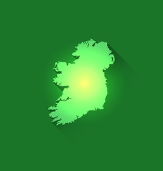 Irish Contour of Map vector image