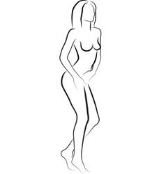naked woman vector image