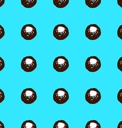 Sketch circles seamless pattern vector image vector image