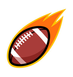 sport ball fire american football vector image vector image