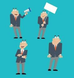 businessman icons set vector image vector image