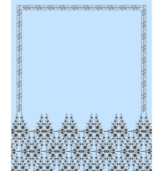 Floral frame and pattern vector image