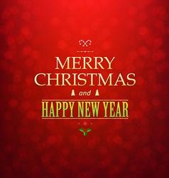 Red Christmas Bokeh Card vector image vector image