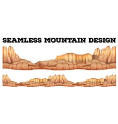 Seamless mountain in canyon vector image
