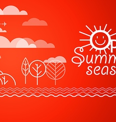 Summer vacation Vacation design template Open sum vector image vector image