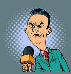 Wrinkled nasty bad reporter correspondent vector
