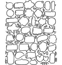 0097 hand drawn background set cute speech vector