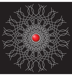 Abstract - lines with red ball vector