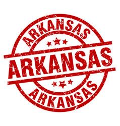 Arkansas red round grunge stamp vector