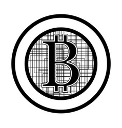 Bitcoin flat design vector