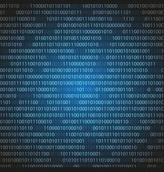 Blue binary computer code abstract vector