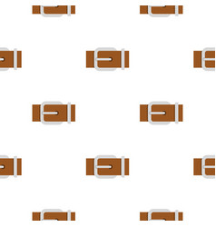 Brown elegant leather belt pattern flat vector