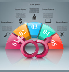 business infographics man and woman icon vector image
