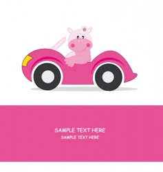 car hippo vector image