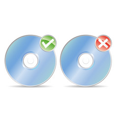 cds record or no record vector image