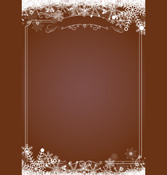 Christmas gradient brown with retro border and vector