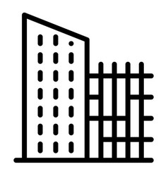 City reconstruction building icon outline style vector