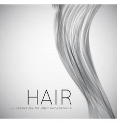 Closeup of long human hair vector