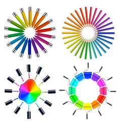 Color scheme art objects vector