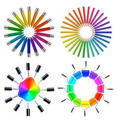 color scheme art objects vector image