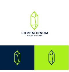 Crystal gem stone logo line art outline download vector