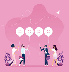 Customer feedback concept vector
