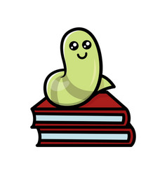 Cute worm vector