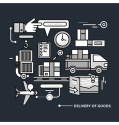 Delivery Service Aviation Customs vector image