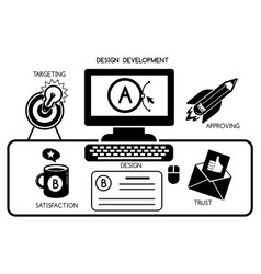 design development concept background simple vector image