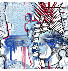 design with venus de milo sculpture column vector image