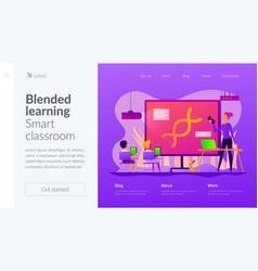 digital classroom landing page template vector image