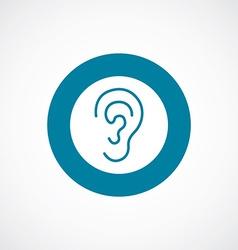 ear icon bold blue circle border vector image