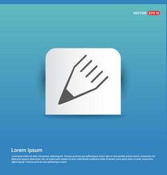 Edit pencil icon - blue sticker button vector