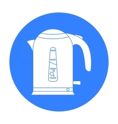 Electrical kettle icon in black style isolated on vector image