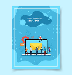 email marketing strategy people standing front vector image
