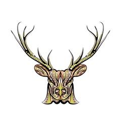 ethnic deer vector image