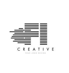 fi f i zebra letter logo design with black and vector image